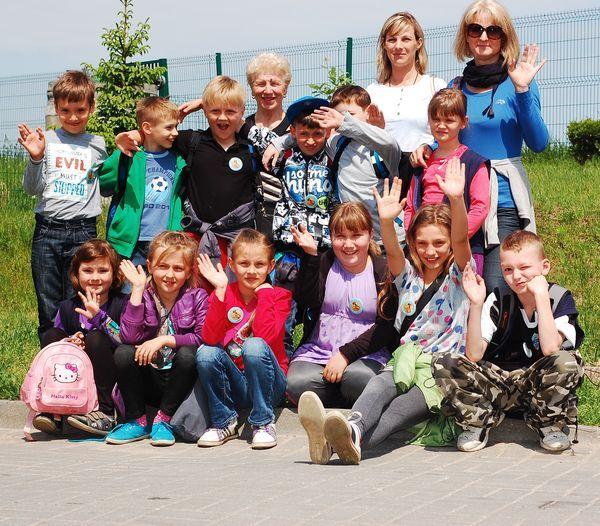 Wizyta dzieci ze szkoły podstawowej nr 14 kl II c