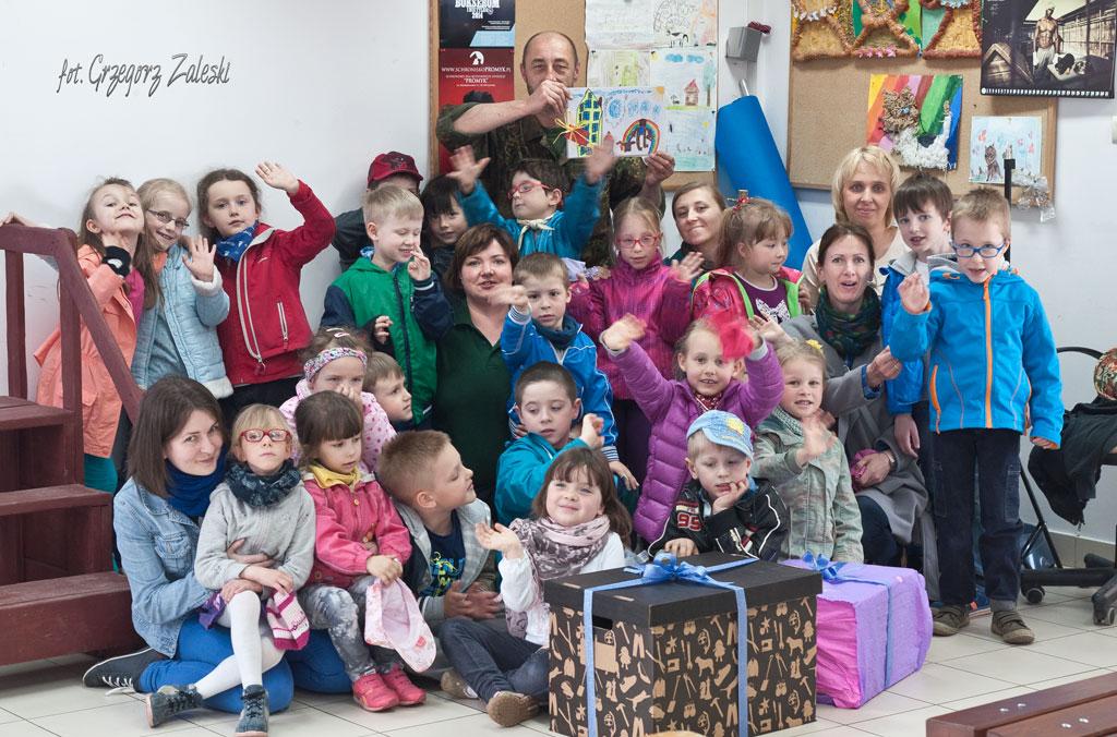 Wizyta dzieci z przedszkola w Straszynie 14-05-2015